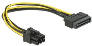 DELOCK - Power cable - 15 pin SATA power (M) - 6 p (82924)