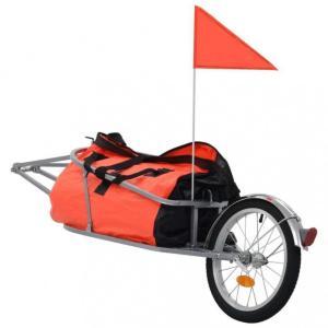 Sykkeltilhenger med veske oransje og svart