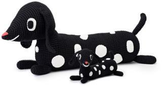 Littlephant Beanbag, Heklet, Big dog, svart/hvit