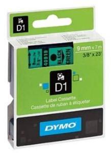 DYMO Labeltape 9mm S0720740 sort/grønn 40919 (Kan sendes i brev)