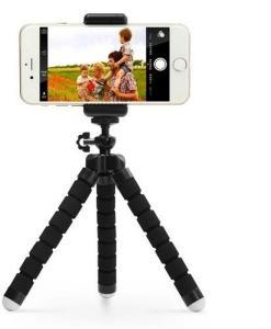 Tripod - justerbart trebenet stativ med fjernkontroll for mobil og kamera