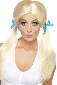 Sassy skolepike parykk - blond