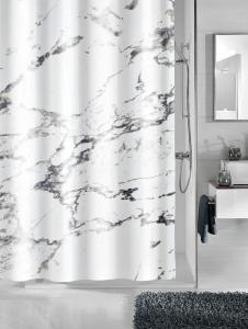 Kleine Wolke Dusjforheng -Marmor- Kleine Wolke hvit/grå marmorert
