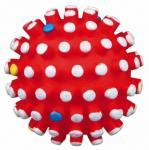 Lekeball med lyd og knupper 6 cm