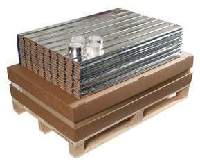 Lamiflex gulvplate 20m2 m/tape 8mm byggehøyde 100x300cm Øgeland System