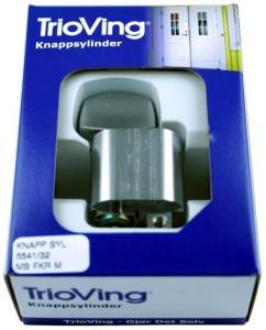 TRIOVING SYLINDERKNAPP TV5541 MESSING FORKROMMET MATT 32MM