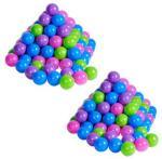 knorr® leketøy ballsett Ø 6cm, 200 stk, myk farge - Flerfarget