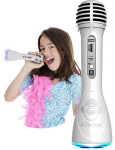 iDance Party Mic PM6 white - trådløs karaoke mikrofon og høyttaler i ett - med Bluetooth