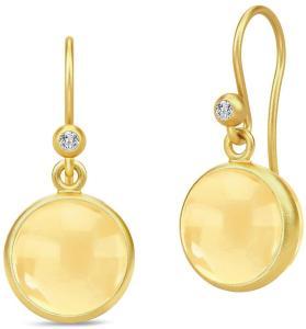 Julie Sandlau Prime Earrings - Gold/Citrine Øredobber Smykker Gull Julie Sandlau Women