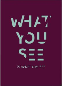 Playtype Poster What you see 50x70 cm Unisex Lilla / lys grønn