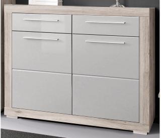 Luovaure Skoskap 119 cm - Brun/Hvit