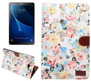 Lommeboketui for Samsung Galaxy Tab A 10.1 2016 - Lyse blomster