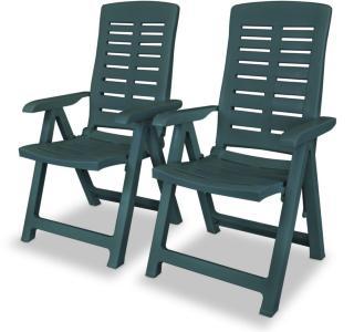 vidaXL Hagelenestoler 2 stk plast grønn