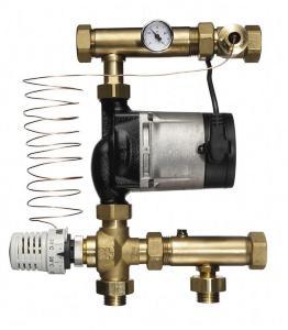 Roth Gulvvarmeshunt med 3-veis ventil m/termostatisk ventil og Alpha2 pumpe