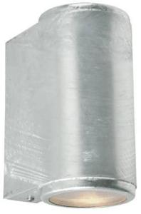 Mandal 1370 Vegglampe 2x3,9W LED Lys Opp/Ned Galvanisert Stål Norlys