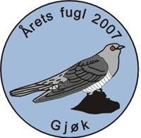 Gjøk pin Årets fugl 2007