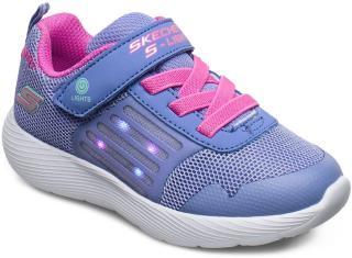 Skechers Girls Dyna-Lite Sneakers Sko Blå Skechers