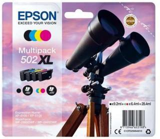 Epson 502XL Multipack - 4 pakker - høj kapacitet - sort gul cyan magenta - original - blækpatron - Blekkpatron Svart C13T02W64020