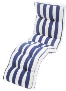 stolpute baden hvit med blå striper