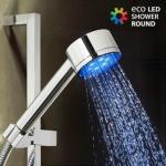 Dusjhode med LED Lys - Viser temperatur Skifter farge avhengig av vanntemperatur