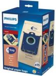 Philips s-bag FC8019/03, Papir, AirStar FC8220-FC8229, City-Line FC8400-FC8439, EasyLife FC8130-FC8139, Expression..., 15 stykker