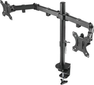 Deltaco GAMING Dual monitor desk mount, 13
