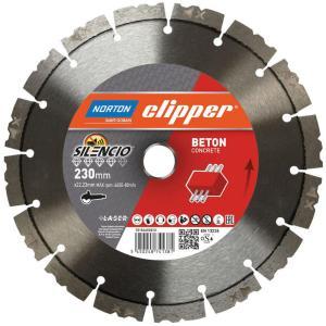 NORTON CLIPPER Diamantblad betong silencio 230x22
