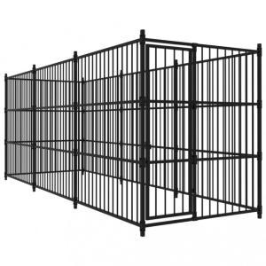 Utendørs hundegård 450x150x185 cm - sort