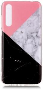 TPU Deksel for Huawei P20 Pro - Rosa/Svart Marmor
