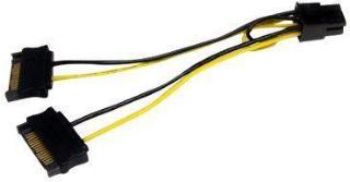 StarTech SATA Power to 6 Pin PCI Express Video Card Power Cable Adapter - Strømkabel - SATA-strøm (hann) til 6-pins PCIe-strøm (hann) - 15 cm (SATPCIEXADAP)