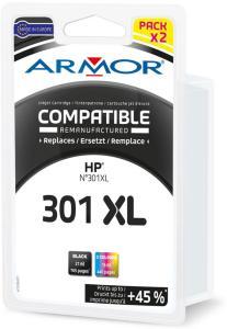 Armor Blekkpatron Pakke 301XL Sort/3-Farge (21ml/16ml) B10284R1 (Kan sendes i brev)