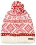Barts White and Pink Patterned Log Cabin Beanie 55cm (8 years +)
