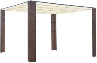 vidaXL Paviljong med tak polyrotting 300x300x200cm brun og kremhvit