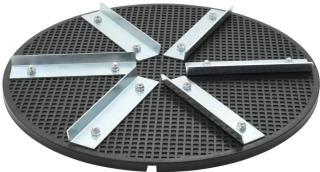 vidaXL Slipeskive plast jern 39 cm