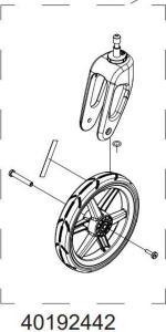 Thule Chariot Trillehjul Består av 2 hjul, fra 2017 ->