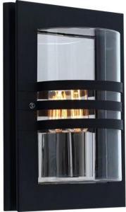 Elektro-Armatur Ekeberg utelampe vegg sort 1x60w E27 IP44 3100000323 Taklampe / Vegglampe