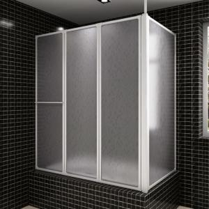 Dusj avskjerming vegg L-form - 70 x 120 x 140 cm