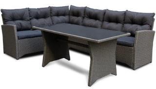 Tulsa sofagruppe hjørne mørk grå