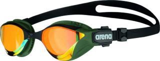 arena Cobra Tri Swipe Mirror Goggles yellow copper/army  2020 Svømmebriller