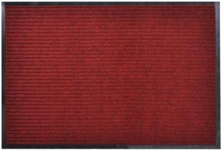 vidaXL Rød PVC Dørmatte 90 x 120 cm