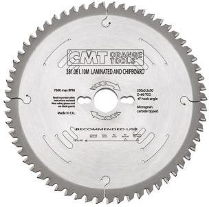 Sagblad for tre CMT 250x3.2x30 Z60 -3°
