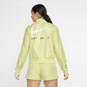 Nike løpejakke med hel glidelås til dame - Green S