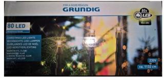 GRUNDIG JULEBELYSNING 80 LED 11 M