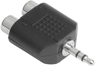 Hama lydadapter (2 x RCA hunn - 3.5 mm jack hann) HAMA122376