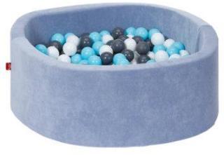 knorr® leker ballbad mykt - Bløtt blått inkludert 300 baller krem ??/ grå / lys blå