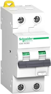 SCHNEIDER Jordfeilautomat 32A/B-2P 30mA iC60 RCBO A9D37216 (1600906)