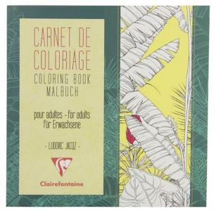 Claire Tegnebok 20x20cm 36 ark blomster 97502C