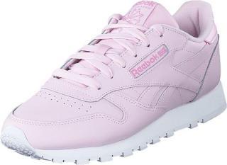 Reebok Classic Cl Lthr Pixel Pink/white/jasmine Pink, Sko, Sneakers og Treningssko, Sneakers, Hvit, Dame, 41