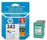 HP 343 - 2-pack - farge (cyan, magenta, gul) - original - blekkpatron - for Officejet H470; Photosmart 2710, 428, C4140, C4150, C4180, C4183, C4190, D5160, Pro B8350 (CC575EE)