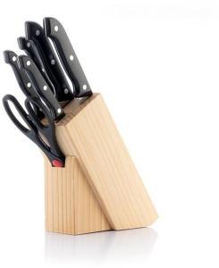 Knivsett med knivblokk